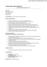 Construction Worker Sample Resume by Sample Resume General Construction Worker Templates