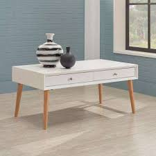 white rectangle coffee table modern drawers coffee tables accent tables the home depot