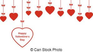 eps vectors of valentines day hanging hearts ornaments happy