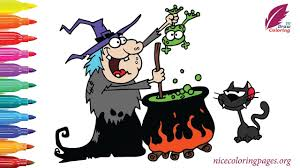 halloween witches for kids how to drawing witches and coloring