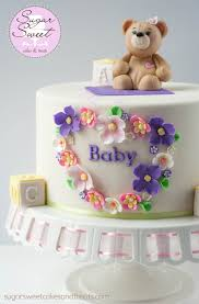 teddy bear baby shower cake cakecentral com