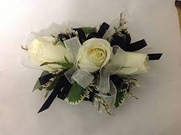 black and white corsage prom corsage delivery modesto ca flowers by alis