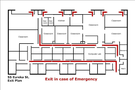 Fire Evacuation Floor Plan Emergency Information U2013 Pacific Oaks College