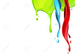 red blue green color fluid flow from above royalty free