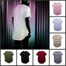 2017 Fashion Color Sell Pure Color T Shirt Wholesale Men Fashion Extended Long T