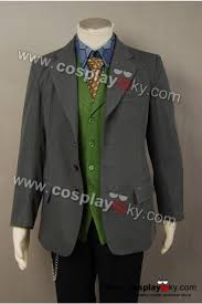 Dark Knight Joker Halloween Costume Batman Dark Knight Joker Grey Blazer Costume Cosplaysky Com