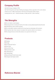 sample business profile template sample business profile 5