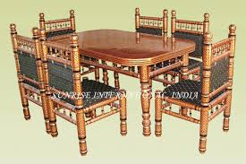 Home Design Rajasthani Style Sunrise International Wooden Dining Sets