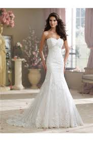 strapless wedding dresses mermaid strapless sweetheart lace applique wedding dress with crystals