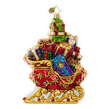 christopher radko ornaments santa sleighs