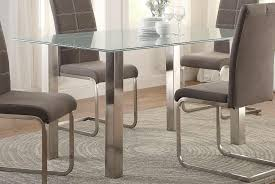 Chrome Dining Room Sets Dining 399234 410025 Glass And Chrome Dining Table 2017 69 Glass