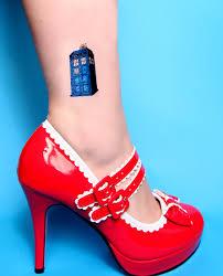 2 doctor who temporary tattoo tardis splat large temp tattoo art