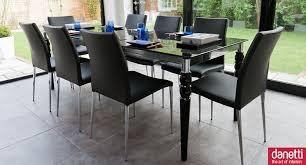 epoque black glass and elise extending dining set black dining