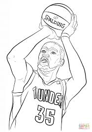 kevin durant coloring page free printable coloring pages