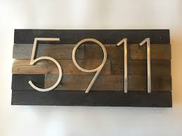 home decor address house numbers custom reclaimed wood barn wood rustic vintage