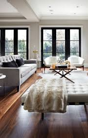 living room front room furnishings with tufted sofa and tufted
