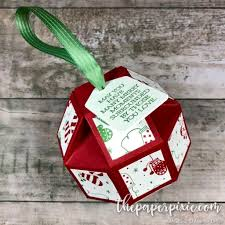 faceted ornament with tutorial the paper pixie