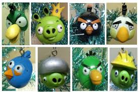 birds 16 tree ornament set