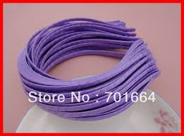 bulk satin ribbon 10pcs 5mm satin ribbon wrapped plain metal hair headbands