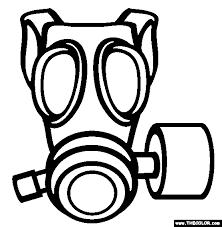 gas mask coloring free gas mask coloring
