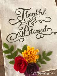 5 monsters thankful and blessed wall hanging