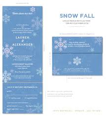 Seal And Send Wedding Invitations For Ever Winter Wondlerland Wedding Invitations