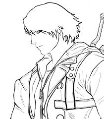 nero from devil may cry coloring page free printable coloring pages