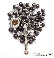 hematite rosary hematite rosary necklace blessed in holy sepulchre with holy