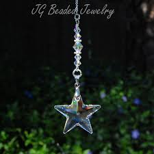 Swarovski Home Decor Swarovski Crystal Star Ornament Jg Beaded Jewelry