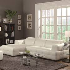 Contemporary Sectional Sofa With Chaise Coaster Darby Contemporary Sectional Sofa With Wide Chaise And