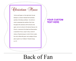 custom church fans personalized church fans color free personalization