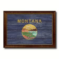 montana home decor montana state flag home decor office wall art decoration bedroom