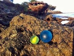 beach of glass sea glass in australia