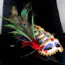 peacock mardi gras mask 2016 peacock feather masks gold embellished