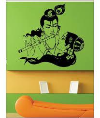 wall1ders radhe krishna black premium sticker pvc wall stickers