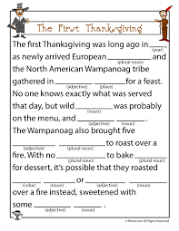 the thanksgiving mad lib woo jr activities