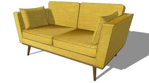 canap sketchup timeo canapé 2 places en tissu jaune maisons du monde ref