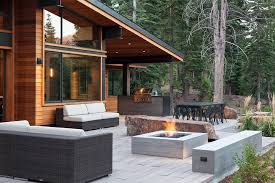 Boulder Outdoor Furniture by Fire Boulder Patio Eclectic With Red Tree Eclectic Outdoor Benches