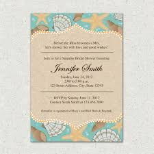 Beach Theme Wedding Invitations Beach Themed Bridal Shower Invitations Dancemomsinfo Com