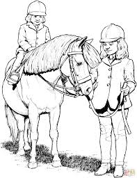 real pony coloring pages kid rides a pony coloring page free printable coloring pages