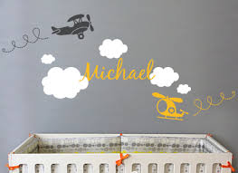 Personalized Wall Decals For Nursery 8 Personalized Wall Decals For Nursery Airplane Cloud And
