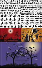 vector halloween background with pumpkins and bats for your