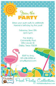 pool party collection printables party printables by amy