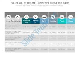 it issue report template project issues report powerpoint slides templates powerpoint