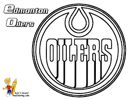 coloring hockey logo coloring pages
