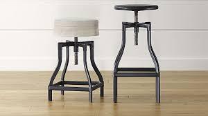 cushioned bar stool turner black adjustable backless bar stools and linen cushion
