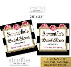 bridal shower favor tags black white stripes floral bridal shower favor tags cake pop tags
