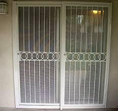Patio Door Gate Portable Folding Security Gates Decorative Screen Doors Exterior