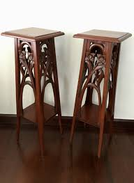 pair of art nouveau plant stand first quarter of the 20th century