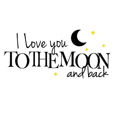 you to the moon and back design